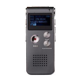 Usb flash 3d en Ligne-Nouvelle Arrivée 8 GB Mini USB Enregistreur Vocal Flash Numérique Audio Enregistreur Vocal 650Hr Dictaphone 3D Stéréo MP3 Lecteur