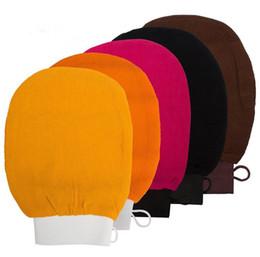 Luva de banho esfoliante on-line-Esfoliante Luvas marroquino toalha de banho hammam scrub luva magia peeling luva esfoliante luva tan remoção (sensação grosseira normal)