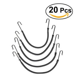 Wholesale clip braided ponytails - 20Pcs RUIMIO Ponytail Hooks Headband Hair Claw Hair Clips Rubber Bands Styling Braid Simple Black Clip Womens Fashion
