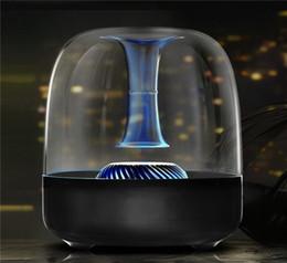 altavoces de coche de audio de cristal Rebajas 2018 Nueva mini tarjeta de subwoofer inalámbrica de audio y audio para exterior Bluetooth altavoz pequeño altavoz portátil de cristal Altavoces creativos Envío de DHL