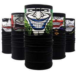 Wholesale bikers masks - Skull Magic Bandana Helmet Neck Face Mask Printed Clown Halloween Skeleton Head Scarf Outdoor Sports Ski Biker Headband