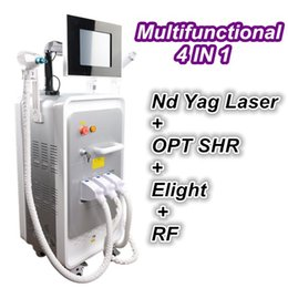Wholesale skin cool machine - 2018 shr ipl hair removal skin rejuvenation IPL OPT hair removal laser tattoo cleaning cooling RF beauty machine