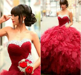 Wholesale tulle skirt quinceanera dresses - 2018 Sweet 15 Ball Gown Quinceanera Dress Beadings Sweetheart Tiered Skirt Arabic Prom Party Gowns Evening Dress Formal Masquerade