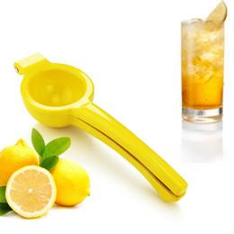 Wholesale wholesale fresh lemons - Useful lemon squeezer Hand Press Manual Juicer Orange Lime Squeezer Aluminum alloy fresh juice Kitchen tools GGA427