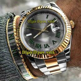 366ecddbf9a Cheap Nova Data 41mm m126333-002 Dial Cinza 126333 Asian 2813 Mens  Automático Assista Vidro De Safira Dois Tons de Ouro Caso   Pulseira Gents  Relógios