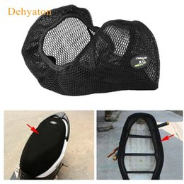 Discount 3d seat - 3D Motorcycle Seat Cover Scooter Electricmobike Breathable Mesh Net Cushion Protector Sun Pad Heat Insulation Cushion Cover New