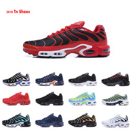 Wholesale Watermelon Button - Free Shipping 2018 New Tn Shoes Men\\'s Sneakers Breathable Air Cusion Shoes Casual Running Shoes New Arrival 33 Colors 40-46