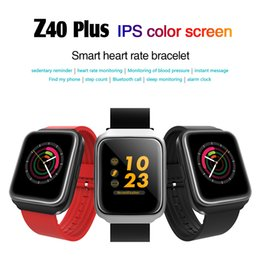 Wholesale power vehicles - Z40 Plus IPS color screen smart heart rate bracelet 350mAh high power polymer battery IPS Smart Wristbands for iphone Android