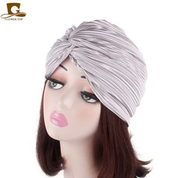 2019 pinzas para el cabello de tul Las nuevas mujeres giro volante de lujo turbante suave poliéster Torsión pelo de la venda del pelo del abrigo tapa de quimioterapia Accesorios Bandana Hijab