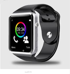 Argentina 2018 nuevo 9 color A1 WristWatch reloj inteligente Bluetooth deporte podómetro con SIM cámara Smartwatch para teléfono inteligente Android Suministro