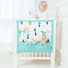 Wholesale cartoon baby cot - Cartoon Rooms Nursery Hanging Storage Bag Baby Cot Bed Crib Organizer Toy Diaper Pocket For Newborn Crib Bedding Set 60 *50cm