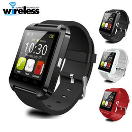 Wholesale iphone 4s black - Bluetooth Smartwatch U8 U Watch Smart Watch Wrist Watches for iPhone 4 4S 5 5S Samsung s7 HTC Android Phone Smartphone