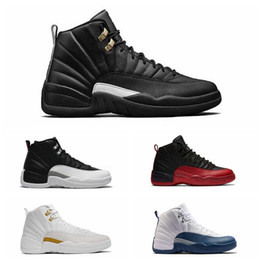 red high shoes Coupons - High Quality 12 12s mens basketball shoes sneakers OVO White Gym Red Dark Grey women Basketball Shoes Taxi Blue Suede Flu Game CNY