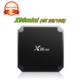 Original X96 mini 2 GB 16 GB Android 7.1 TV Caixa Amlogic S905W eMMC Flash 4 k Streaming Media Player set top box de