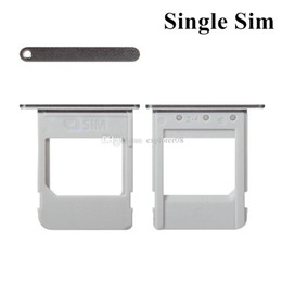 Wholesale micro sim slot replacement - New Single Sim Micro SD Memory Card Tray Holder Slot Replacement For Samsung Galaxy Note 5 N920 N920F N920P VS N920T N920A 100PCS