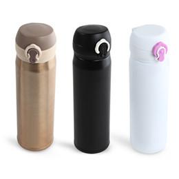 Wholesale brand drinks - New 500ml Bounce Cap Brand Style Stainless Steel Double Wall Vacuum Bottles Stainless Steel Coffee Tea Bottles Milk Water Bottle