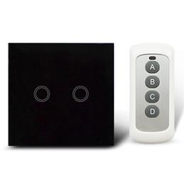 2019 mini rivelatori di topi Telecomando Touch Switch Panel Light Wall impermeabile in vetro di cristallo 2 Gang 1 Way 433MHz con standard Pilot.EU/UK