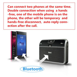 universal bluetooth multipoint speakerphone Promo Codes - 2015 Universal Car Kit sun Clip Hands free Multipoint Stereo Wireless Bluetooth 4.0 V4.0 Speakerphone Speaker Bluetooth