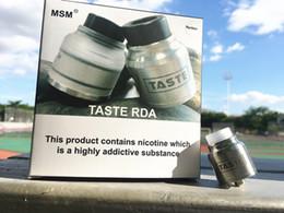 Вкус RDA от MSM / 100% подлинный распылитель / две сменные крышки и основания, различные размеры воздушного потока испытывают разные вкусы от