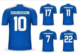 Wholesale mens world - 18-19 Customized Jerseys Home Away Finnbogason 11 17 Gunnarsson Thai Quality Jersey ,mens Gudmundsson 7 Sigurdsson 10 World Cup 2018 wear