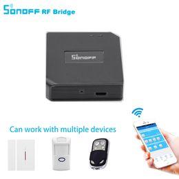 433mhz rf control remoto Rebajas Sonoff RF Bridge WiFi 433MHz Módulo de automatización del hogar de repuesto Interruptor universal Inteligente Domotica Wi-Fi Remote RF Controller