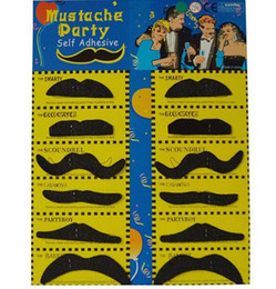Wholesale Fancy Children - New 2017 1x Set of 12 Beards Fancy Dress Carnival Moustache glue false beard Fancy Dress