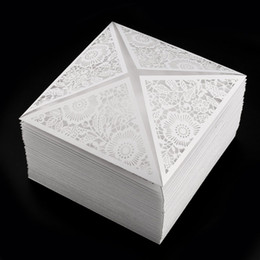 Argentina 50 Unids Oro Blanco Diseño Negro Invitación de Boda Matrimonio Rústico Tarjeta de Invitación de Corte Láser Sobre Sellos Suministros para Fiestas de Eventos supplier marriage cards designs Suministro
