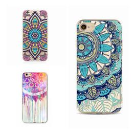 Coque pour iPhone 7 6 6s 8 plus Silicone Souple Mandala coloré transparent creux et transparent HENNA Ethnic Triba ? partir de fabricateur