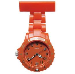 Relógio de bolso de quartzo plástico on-line-Moda unissex mulheres senhoras design de plástico mulheres enfermeira FOB relógios de bolso atacado médico médico hospitalar quartzo pendurar relógios