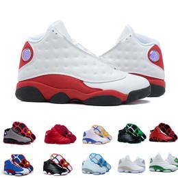 low priced 89938 aa1f9 nike air Jordan 13 aj13 retro 13 13 s mens chaussures de basket 3M GS Hyper  Royal Italie Bleu Bordeaux Flints Chicago Bred DMP Blé Olive Ivoire Noir  Cat ...