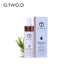Wholesale Beauty Essentials - O.TWO.O 24K Rose Gold Infused Beauty Oil Elixir Skin Make Up Essential Oil Before Primer Foundation Moisturizing Face Oil 3001172
