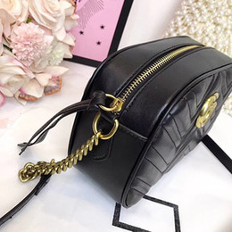 Wholesale pink rhinestone purses - 2018 Luxury Brand designer Handbags 1:1 Shoulder Bag Crossbody Camera Bags high quality PU Purse lady women wallet 180327005SPX