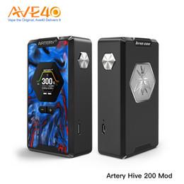 Электронная сигарета онлайн-Оригинальный Artery Hive TC Box MOD 200 Вт выход с функцией режима вкуса электронная сигарета Vaping VS Voopoo Drag