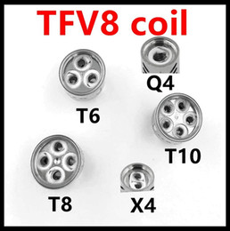 Bobinas de repuesto originales TFV8 bobina V8-T8 T6 VQ4 X4 T10 Turbo V8 RBA para TFV8 Cloud Beast Tank desde fabricantes