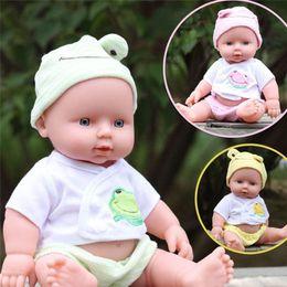 Wholesale Reborn Baby Girl Sleeping - 30cm Reborn Baby Doll Soft Vinyl Silicone Lifelike Newborn Baby Doll for Girls Birthday Gift Simulation Sleeping Calm