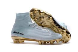 2019 zapatos de césped para niños Hombres Mujeres Niños Fútbol Zapatos de fútbol Botas Mercurial Superfly V FG TF Turf CR7 Zapatos de fútbol juvenil para niños Niños Cristiano Ronaldo 2018 zapatos de césped para niños baratos