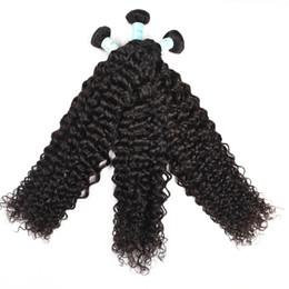 Canada Péruvien Cheveux Humains Bouclés Tisse 100% Vierge Non Transformés 8A Brésilien Malaisien Indien Cambodgien Mongol Jerry Boucles Extensions de Cheveux Offre
