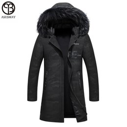 Wholesale Natural Goose Feathers - Asesmay Men Down Jacket Men's Winter Coats Brand High Quality Mens Parka Winter Mens Jackets Goose Feather Hooded Camouflag Coat