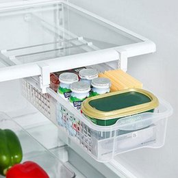 cajas de almacenamiento de refrigerador Rebajas Refrigerador Organizador Caja frigorífico mate Cocina Almacenamiento Saque Cajón Tire hacia fuera Bin Inicio Organizador Espacio Ahorro Huevo Almacenamiento FFA1038