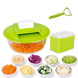 Wholesale Potato Vegetable - New Fashion Vegetable Slicer Stainless Steel Cutting Vegetable Grater Creative Kitchen Gadget Carrot Potato Cutter Kitchen Tools