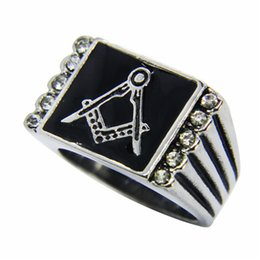 Wholesale Clean Band - 1pc Newest Clean Crystal AC Ring 316L Stainless Steel Popular Fashion Jewelry Biker Cool Men Ring