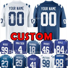 Discount colts jerseys - Custom Indianapolis Jersey Colt 18 Peyton Manning  88 Marvin Harrison 4 Adam 508a8e591