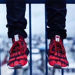 Wholesale Golf R1 - HOT SALE 2018 New Originals NMD R1 Runner Primeknit PK Boost Tri Color Spiderman Women Men Designer Running Shoes Sneakers