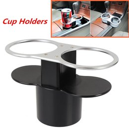 Wholesale Glass Wedges - Mayitr Universal Car Seat Seam Wedge Dual Cup Drink Holder Travel Storage Bottle Glass Stand High Quality