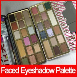 Wholesale White Powder Face - Faced Eyeshadow Palette White Chocolate Bar Chocolate Gold 16 colors Eyeshadow metallic matte eye shadows cocoa powder palette