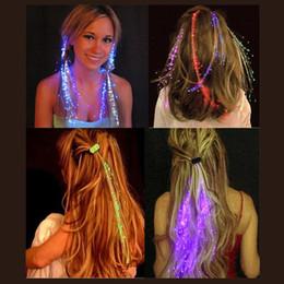 Melhor Luminosa Luminosa LEVOU Extensão Do Cabelo Flash Braid Party Girl Brilho Do Cabelo por fibra óptica Para Festa de Natal Decoração de Halloween de