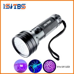 Wholesale Blacklight Torch - Led Flashlight 51 Leds 395nm Ultra Violet Torch Light Lamp Blacklight Detector for Dog Urine Pet Stains and Bed Bug