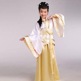 Wholesale Traditional Chinese Clothes Red - Tang ancient Chinese Gege traditional national costume Hanfu Girl red dress princess children cosplay clothing kids