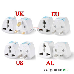 Wholesale uk euro - 1PC Universal US UK AU To EU Plug USA To Euro Europe Travel Wall AC Power Charger Outlet Adapter Converter 2 Round Socket Pin