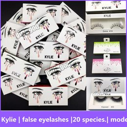 Wholesale Models Makeup - kylie False Eyelashes 20 model Eyelash Extensions handmade Fake Lashes Voluminous Fake Eyelashes For Eye Lashes Makeup